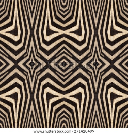 Kaleidoscope abstract background of zebra stripes. Beautiful natural fur pattern.  - stock photo