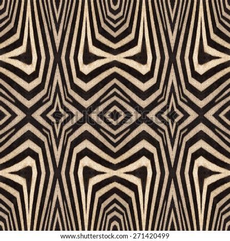 Kaleidoscope abstract background of zebra stripes. Beautiful natural fur pattern.  - stock photo