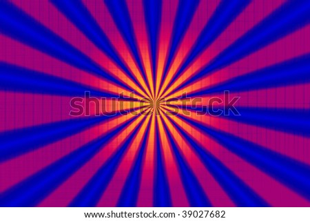 kaleidoscope of beautiful colors on a grid background - stock photo