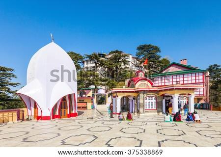 Kali Bari Temple is s famous pilgrim centre in Shimla, Himachal Pradesh state of India - stock photo