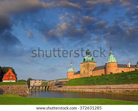 Kalmar Castle (Kalmar slott), the province of Smaland in Sweden - stock photo