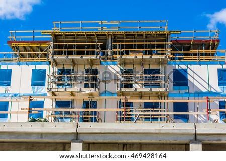 kalmar sweden august 10 2016 apartment construction site in the gesallen area - Concrete Apartment 2016