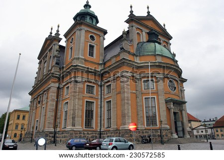 KALMAR, SWEDEN - AUGUST 27: This Cathedral with great cultural value, is located in the south of Sweden in central Kalmar, Sweden on August 27, 2008