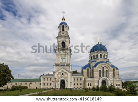 Kaluga, Sacredly Uspensky Tikhonova pustin. Assumption Cathedral and a belltower.