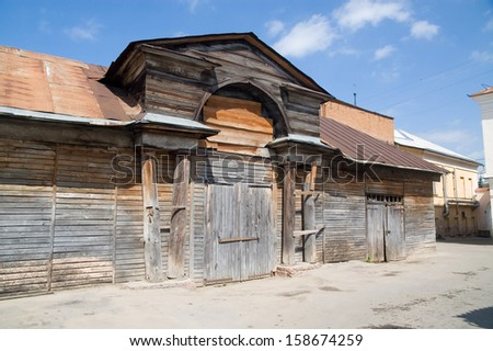 Kaluga, wooden stables beginning of the 19th century