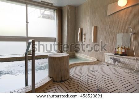 KAMIKOCHI,JAPAN- MAY 22,2016: traditional Japanese bath in some random Japanese resort - stock photo
