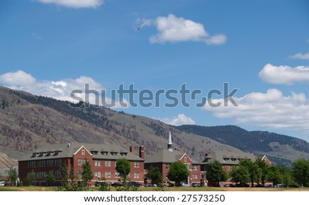 KAMLOOPS, BC - CIRCA 2008: A view of the Kamloops Indian School is shown circa 2008 in Kamloops, BC. The Shuswap Band uses the facility for activities and as offices. - stock photo