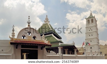 Kampung Kling Mosque in harmony street Malacca, Malaysia, a UNESCO World Heritage Site - stock photo