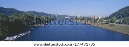 Kanawha River, Charleston, West Virginia - stock photo