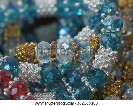 KANCHANABURI,THAILAND - January 2 : Traditional of Gemstone Pattern for Decoration at Khaew River Bridge Market on January 2, 2016 in KANCHANABURI,  Thailand