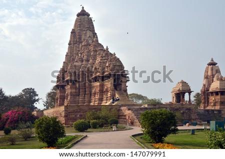 Kandariya Mahadeva Temples Khajuraho AD 930-950 - stock photo