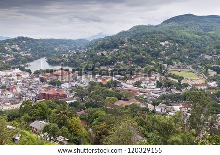Kandy - second largest city located in the Central Province, Sri Lanka. - stock photo