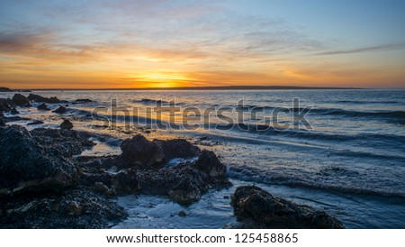 Kangaroo Island Coastline at Baudin Beach - stock photo