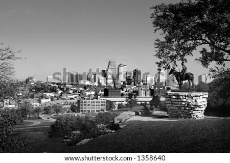 kansas city scout skyline - stock photo