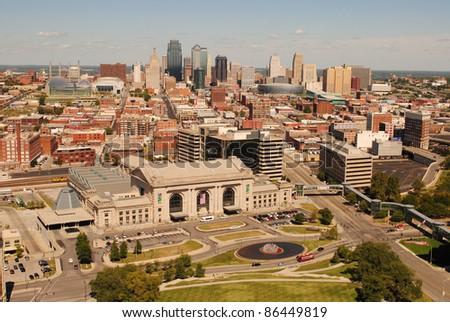 Kansas City skyline - stock photo
