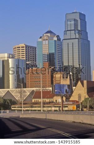 Kansas City skyline, MO - stock photo