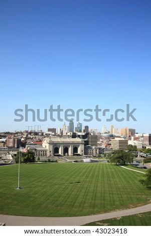 Kansas City Skyline - Union Station - stock photo