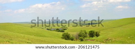 Kansas Flint Hills , - stock photo