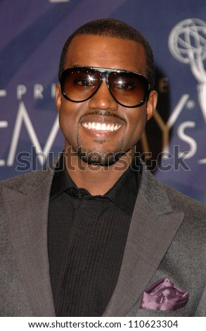 Kanye West in the press room at the 59th Annual Primetime Emmy Awards. The Shrine Auditorium, Los Angeles, CA. 09-16-07