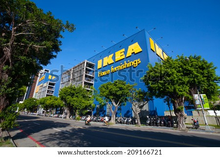 KAOHSIUNG, TAIWAN - JULY 10, 2014: IKEA Kaohsiung Store ...
