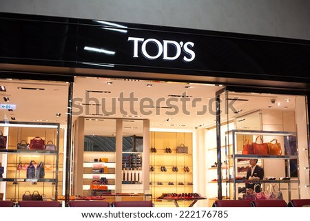 KAOHSIUNG, TAIWAN - JULY 12: Tod's store at Kaohsiung international airport as seen on July 12, 2014 in Kaohsiung, Taiwan. - stock photo