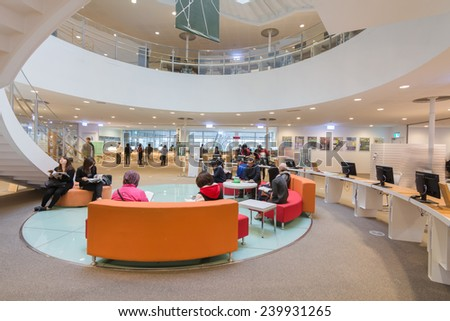 KAOHSIUNG - TAIWAN 19th DEC 2014 : New opening modern library in Kaohsiung, Taiwan, Asia on 19th December 2014. - stock photo