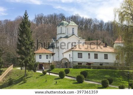 Kaona farm monastery, near Valjevo, Serbia. - stock photo