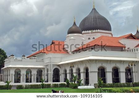 Kapitain Kling Mosque, Penang, Malaysia - stock photo