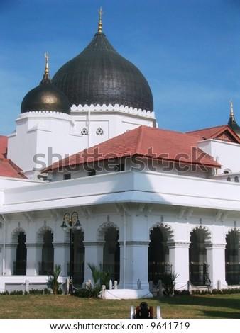 Kapitan Kling Mosque, Penang, Malaysia - stock photo
