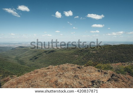 KAPUTAR - MARCH 26: Mount Kaputar national park on March 26, 2016 in Kaputar, Australia. It's a park, surrounding the proximities of Mt Kaputar, a volcano active between 17 and 21 million years ago.