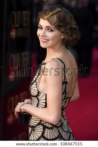 Kara Tointon arrives for the Olivier Awards 2012 at the Royal Opera House, Covent Garden, London. 15/04/2012 Picture by: Simon Burchell / Featureflash
