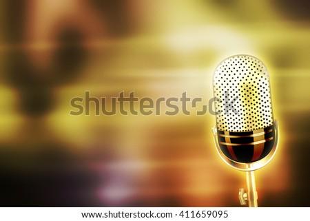Karaoke Gold Background - stock photo