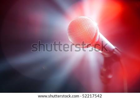 karaoke microphone - stock photo