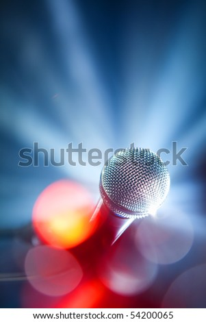 karaoke microphone - stock photo