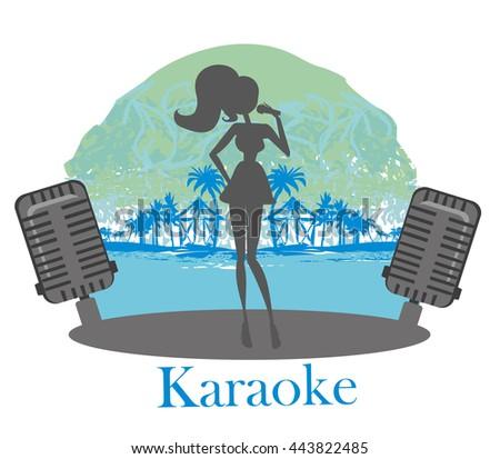 Karaoke night icon - stock photo
