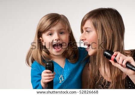 Karaoke playing - stock photo