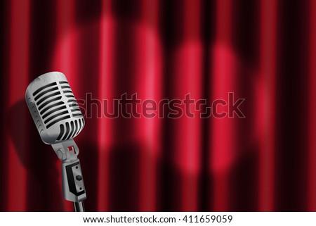 Karaoke Stage Background - stock photo