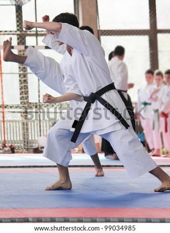 Karate - stock photo