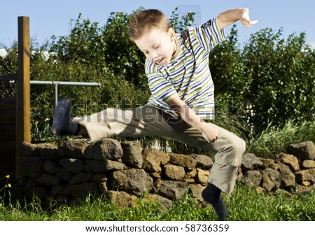 karate kid - stock photo