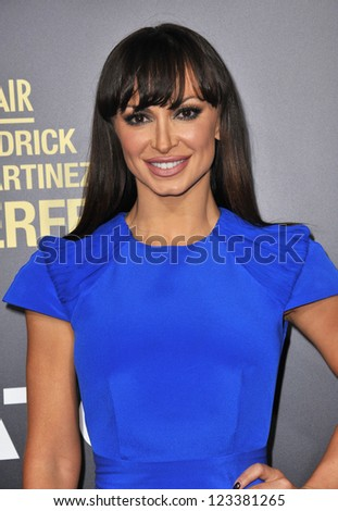 "Karina Smirnoff at the premiere of ""End of Watch"" at the Regal Cinemas LA Live. September 17, 2012  Los Angeles, CA Picture: Paul Smith - stock photo"