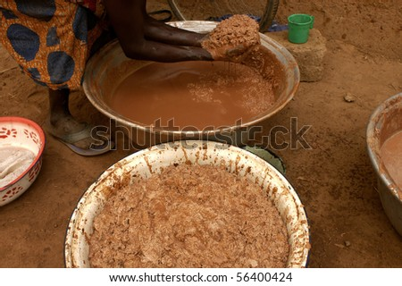 Karitè processing - stock photo