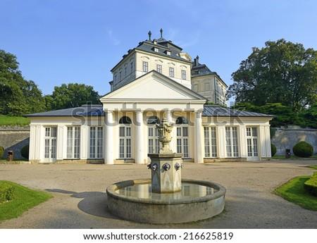 Karlova Koruna castle in Chlumec nad Cidlinou (Chlumec over the river Cidlina), Czech Republic landmark - stock photo