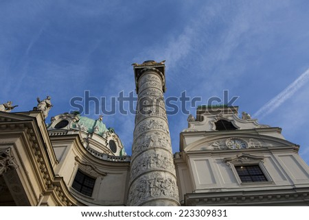 Karlskirche, Vienna - stock photo