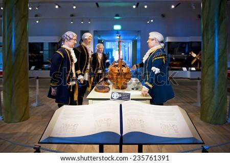 KARLSKRONA, SWEDEN - SEPTEMBER 17: Models Hall in Marinmuseum on September 17, 2011 in Karlskrona - stock photo