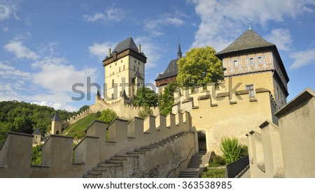 Karlstejn Castle in the Czech Republic, Bohemia