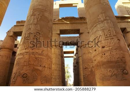 karnak egypt - stock photo