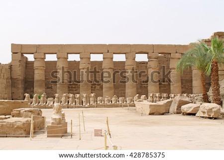 Karnak temple in Luxor City, Egypt - stock photo