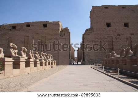 Karnak Temple, Luxor Egypt, main entrance pylons