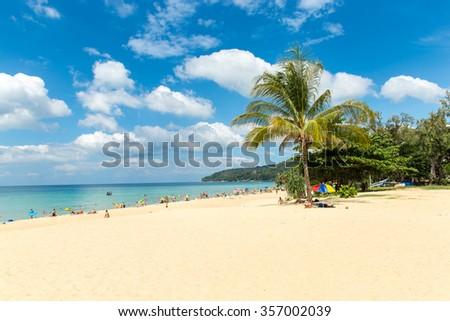 Karon beach in Phuket island Thailand - stock photo