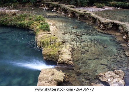 karst topography of the Seven Small Holes in Libo city, China - stock photo